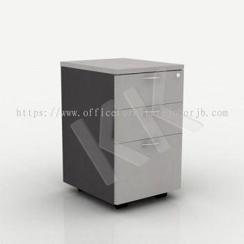Light Grey & Dark Grey Office 2 Drawer 1 Filing Mobile Pedestal