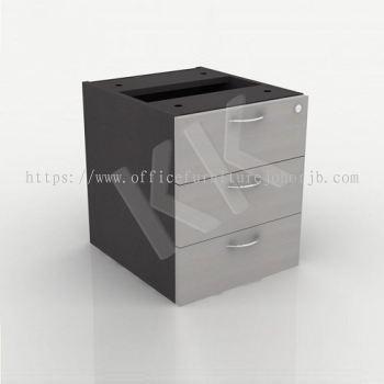 Light Grey & Dark Grey Office 3 Drawer Hanging Pedestal