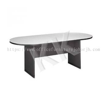 Light Grey & Dark Grey Oval Conference Table 2400W