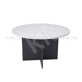 Light Grey & Dark Grey Round Discussion Table 1000W