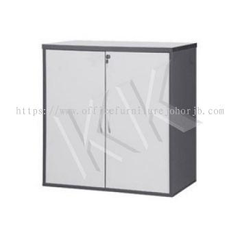 Light Grey & Dark Grey Office Low Swing Door Cabinet