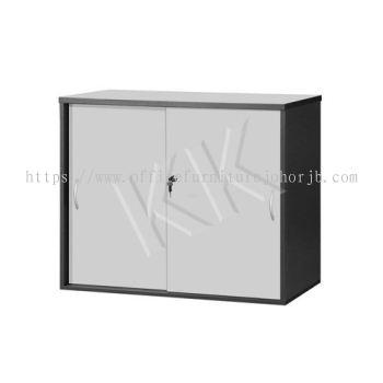 Light Grey & Dark Grey Office Low Sliding Door Cabinet