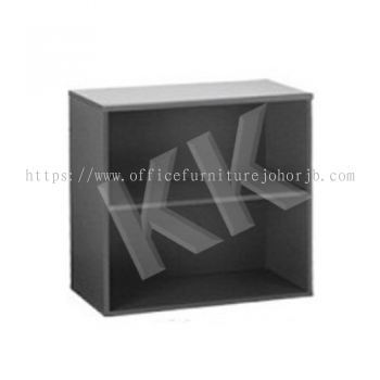 Light Grey & Dark Grey Office Low Open Shelf Cabinet