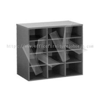 Light Grey & Dark Grey Office Low Pigeon Hole Cabinet