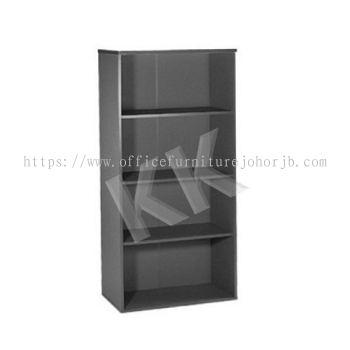 Light Grey & Dark Grey Office High Open Shelf Cabinet