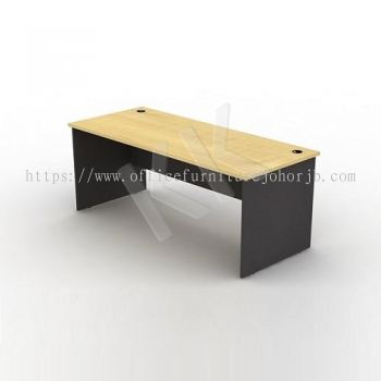 Maple & Dark Grey Straight Office Table 1800W