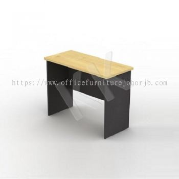 Maple & Dark Grey Office Side Return Table 1200W
