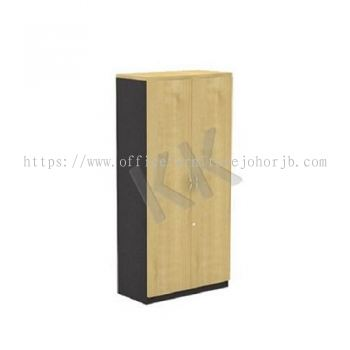 Maple & Dark Grey Office High Swing Door Cabinet