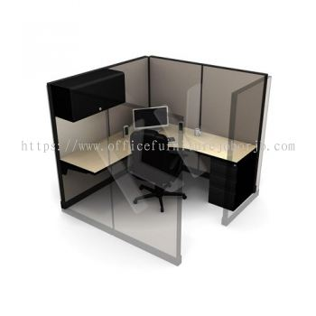 1 Seater Fabric Partition Office Workstation Concept 2