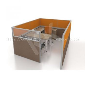 1 Seater Fabric Partition Office Workstation Concept 3