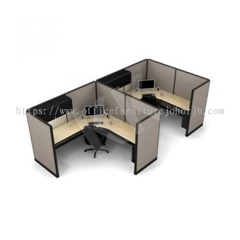 2 Seater Fabric Partition Office Workstation Concept 2