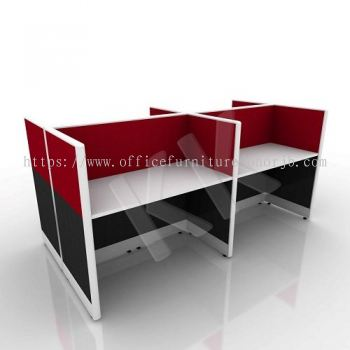 4 Seater Fabric Partition Office Workstation Concept 4