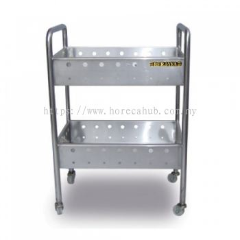 2 TIER PERFORATED TROLLEY
