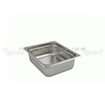 HALF SIZE PERFORATED GN PAN WITH STACKING RECESS