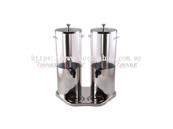 DOUBLE STAINLESS STEEL JUICE DISPENSER - SUNNEX