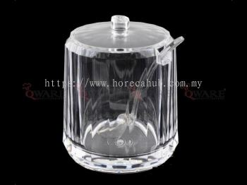 ACRYLIC SUGAR BOWL WITH COVER