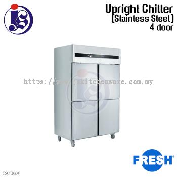FRESH 4 Door Chiller (Stainless Steel) CSUF10B4
