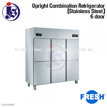 FRESH 6 Door Upright Combination Refrigerator (Stainless Steel) CSUF15A2B4