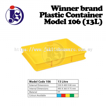 Winner Plastic Container Model 106
