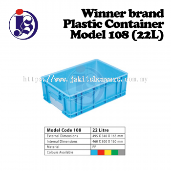 Winner Plastic Container Model 108
