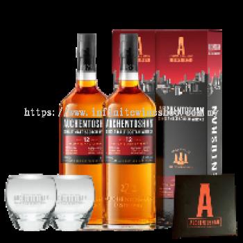 Auchentoshan 12 Years Old Single Malt Scotch Whisky Double Set