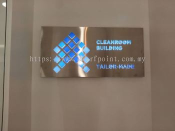 s/steel LED Light Box with acrylic fonts & logo