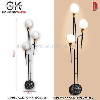 CK LIGHTING WALL LAMP 3 WHITE CIRCLE (FL2201/3 WHITE CIRCLE)