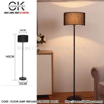CK LIGHTING FLOOR LAMP MODERN MINIMALIST (FLOOR LAMP 3001(603) STRAIGHT BLACK