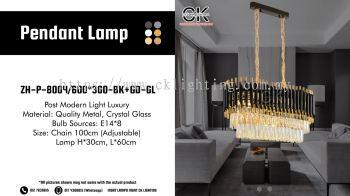 CK LIGHTING Post Modern Light Luxury Rec Black Gold Pendant Lamp  (ZH-P-8004/600*300-BK+GD-GL)