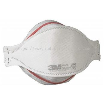 3M 1870 N95/P2 Healthcare Flat-fold Particulate Respirator
