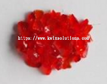 Red Glass Chips