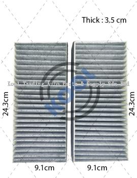 HCC PA HYUNDAI SONATA 2K CARBON AIR FILTER