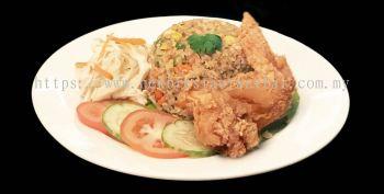 Crispy Chicken Wing Fried Rice - Sample
