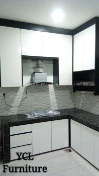 Melamine Gloss White Kitchen Cabinet Bangi