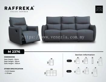 2376 Leather Sofa