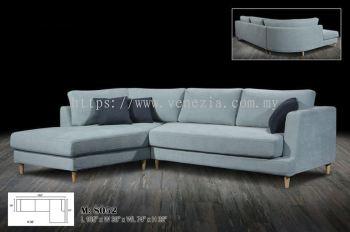 M 8052 L Shape Fabric Sofa