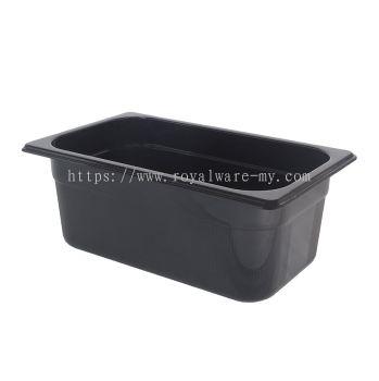 """4"""" 1/4 Food Pan PC Black (3800PC (BK))"""