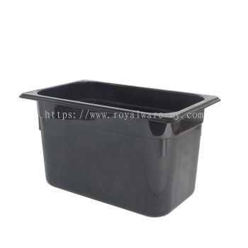 """6"""" 1/4 Food Pan PC Black (3900PC (BK))"""