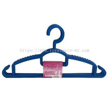6pcs Clothes Hanger (151/6BK / 151/R)