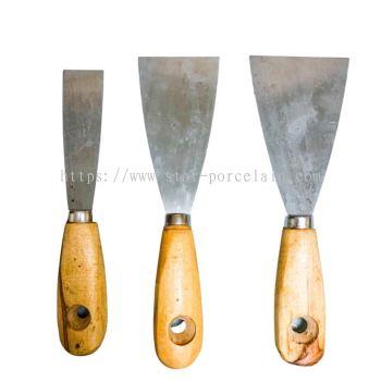 3PCS WOOD HANDLE SCRAPER
