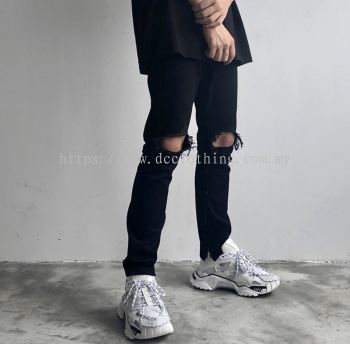 DC RIPPED JEANS WITH ZIP 06