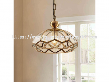 IP-DSC DOME SHAPED CRYSTAL PENDANT LIGHT