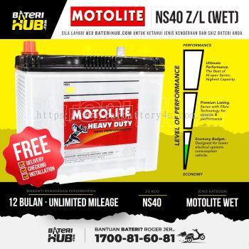 NS40ZL Motolite Wet Car Battery Bateri Kereta [ MYVI KANCIL AXIA ALZA ]