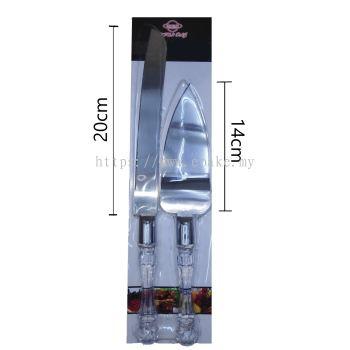 Shun Stainless Steel Cake Knife Set