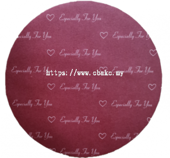 Round (Red) Cake board [Please Choose The Size]