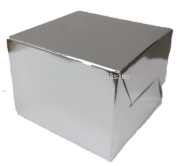 Silver Folding Cake Box