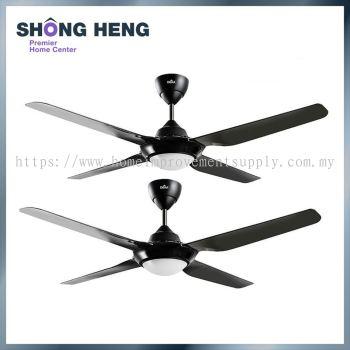 Deka LED Ceiling Fan 4 Blade SV28L (56 ) TWINPACK -BLACK