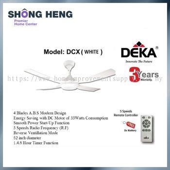DEKA DCX Decorative Ceiling Fan 52 (White color)