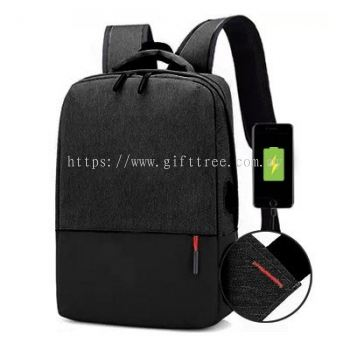 Blaire Laptop Backpack with USB Port - B 125