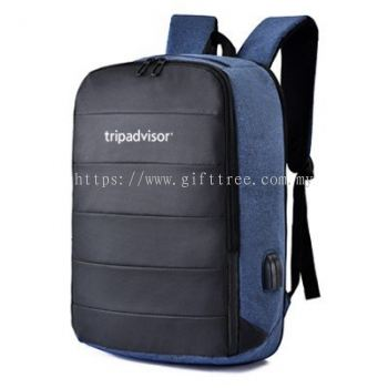 Raph Laptop Backpack with USB & Audio Port - B 127